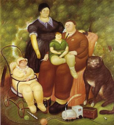 Фернандо Ботеро. Семейная сцена
