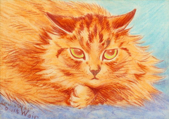 Louis Wain. Watching the mouse