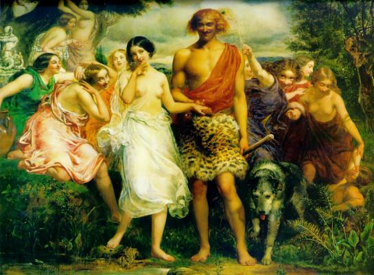 John Everett Millais. Simon and Iphigenia