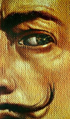 Salvador Dali. Makrofotografie self-portrait with gala phenomenon