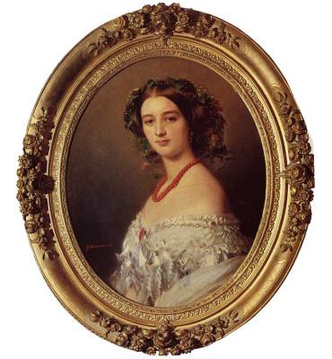 Franz Xaver Winterhalter. Portrait of Maria Luisa Wagram, Princess Murat