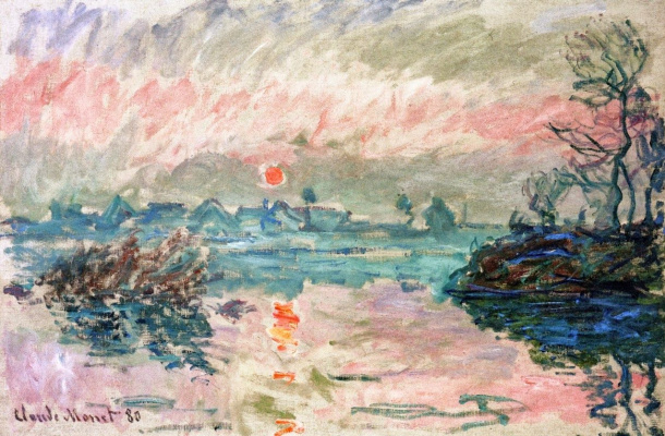Claude Monet. Sunset in Lavakure