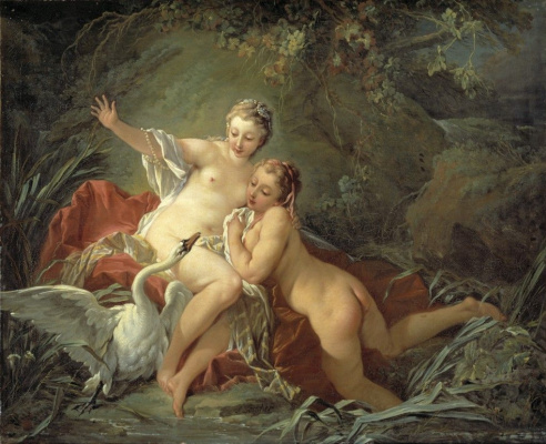 Francois Boucher. Leda and the Swan