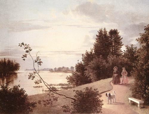 Иван Фомич (Трофимович) Хруцкий. Вид на Елагином острове в Петербурге