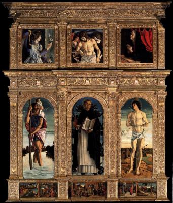 Giovanni Bellini. San Vincenzo Ferreri Polyptych