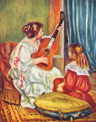 Pierre Auguste Renoir. Woman with guitar