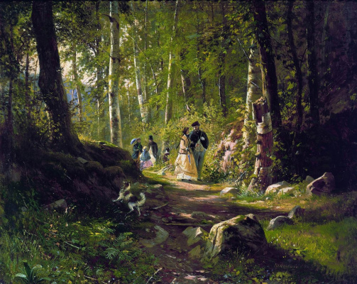 Ivan Ivanovich Shishkin. Walk in the woods