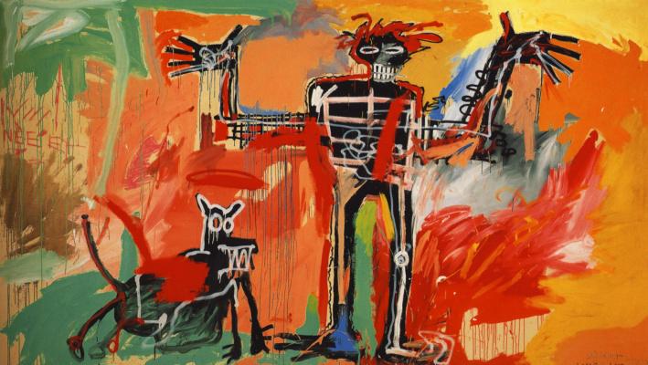 Jean-Michel Basquiat. Boy and dog