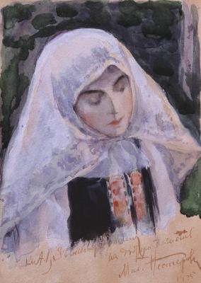 Mikhail Vasilyevich Nesterov. Nun
