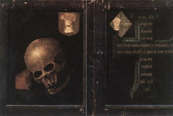 Рогир ван дер Вейден. Триптих Брак (в закрытом виде)