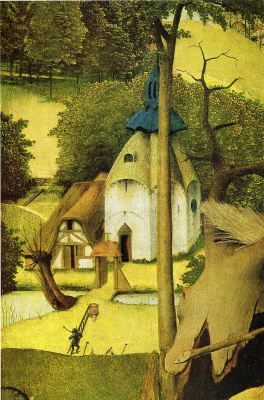 Hieronymus Bosch. The Temptation Of St. Anthony. Fragment