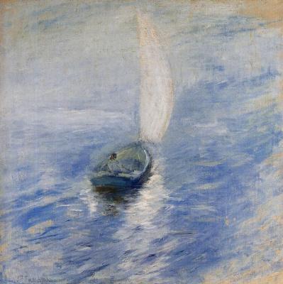 John Henry Twachtman. Sails in the mist
