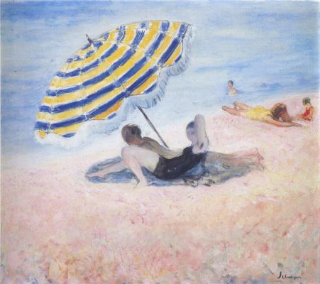 Анри Лебаск. На пляже