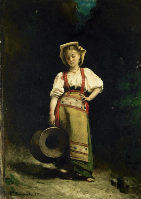 Леон Жозеф Флорантен Бонна. Девочка с опущенной головой