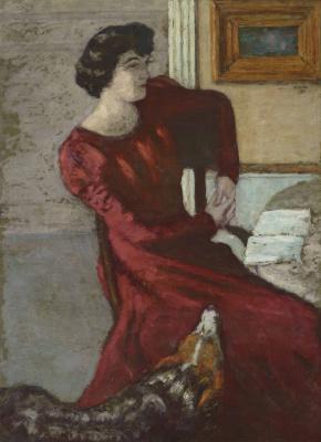 Пьер Боннар. Портрет мадам Хессель, или Дама в красном