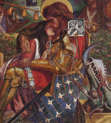 Dante Gabriel Rossetti. The wedding of Saint George and Princess Sabra. Fragment