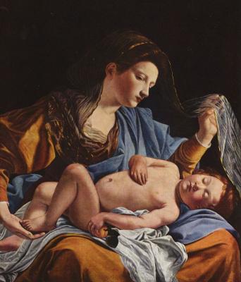 Orazio Gentileski. Mary with child