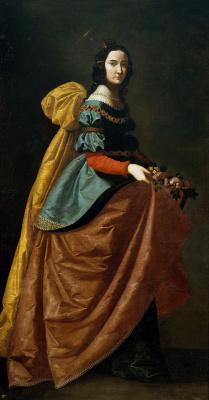 Francisco de Zurbaran. Holy Isabella Portuguese