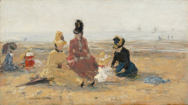 Eugene Boudin. On the beach ,Trouville