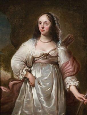 Фердинанд Балтасарс Боль. Портрет женщины с луком и стрелами (Диана)