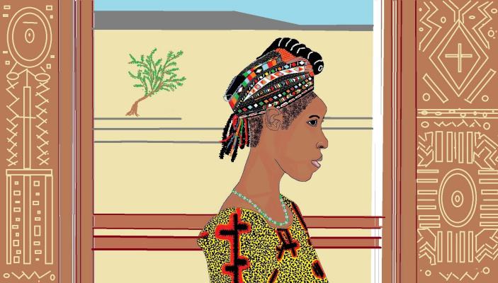Mariya Pretser. Profile of an African girl
