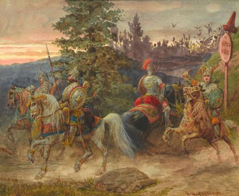 Adolf Iosifovich Charlemagne. The road to Chernomor. Artist's gift Napravnik Vladimir Eduardovich