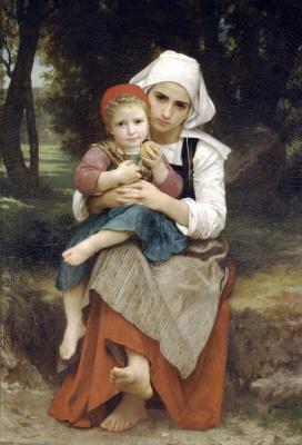 William-Adolphe Bouguereau. Breton brother and sister