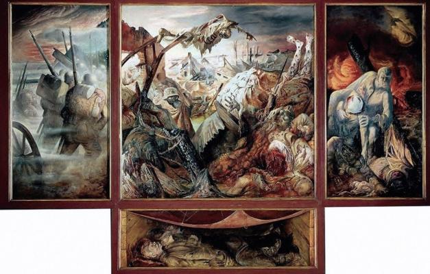 Otto Dix. War. Triptych