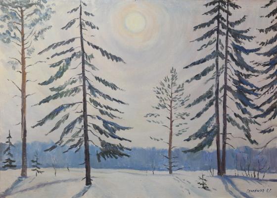 Valery Sergeevich Semenov. Winter morning