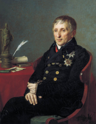 Alexander Grigorievich Varnek. Portrait of the President of the Academy of Arts Alexei Nikolaevich Olenin. Research Museum of the Russian Academy of Arts, St. Petersburg