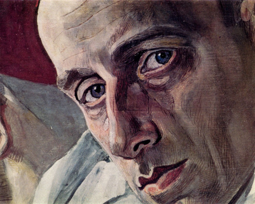 Alexander Yakovlevich Golovin. Portrait of Vsevolod Emilevich Meyerhold, a fragment
