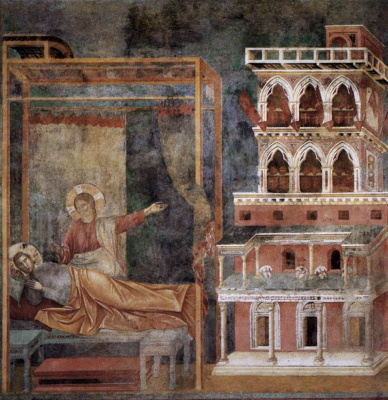 Giotto di Bondone. Dream of the palace. The Legend of St. Francis