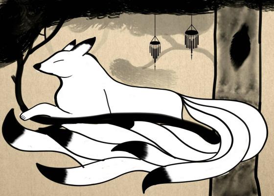 Dream Fox Arts. На дереве