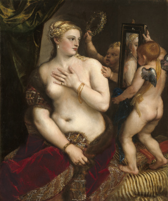 Titian Vecelli. Venus with a mirror