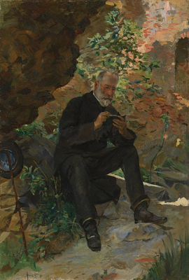 Cuno Amiè. Joseph Ignaz Amie, the artist's father in the ruins of the castle Ramenskogo