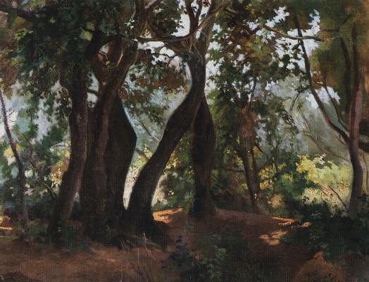 Nikolai Nikolaevich Ge. Wood in Livorno