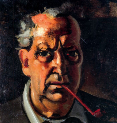 Andre Derain. Self-portrait with a pipe