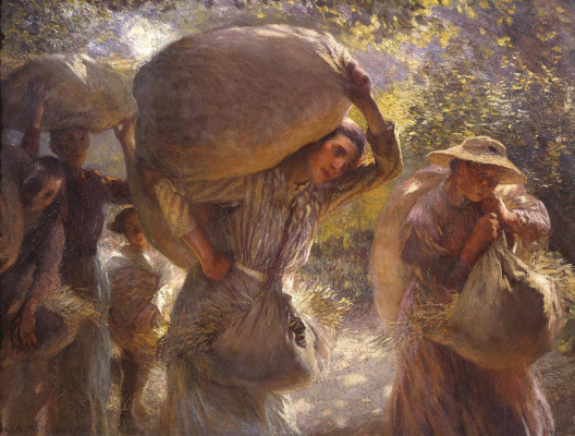 George Clausen. Collectors of grain back home