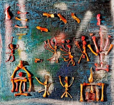 Фахрониса Зейд. Композиция с костями