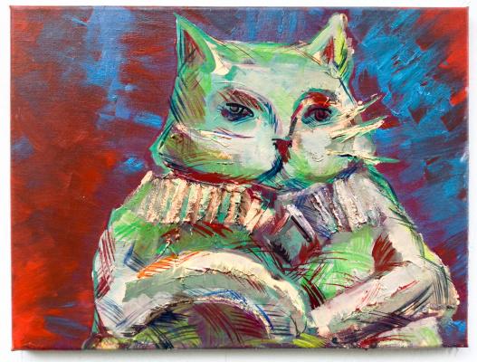Никита Мурзин. The Secret Life of Animals. Sitting Cat
