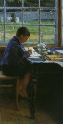 Николай Петрович Богданов-Бельский. Приготовление уроков