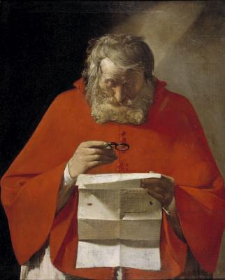 Georges de La Tour. Saint Jerome reading a letter