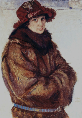 Peter Ivanovich Cold. Portrait of Stefanicheva