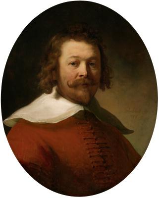 Рембрандт Харменс ван Рейн. Портрет мужчины в красном камзоле