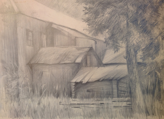 Dmitry Arkadevich Laptev. House in the village
