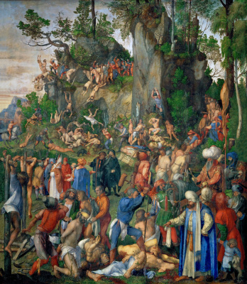 Albrecht Durer. The martyrdom of ten thousand Christians