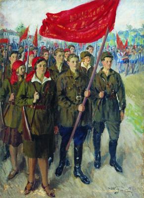 Иван Семенович Куликов. Международный Юношеский день. 1929