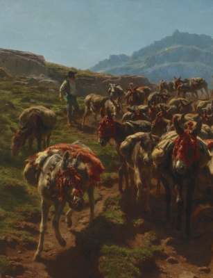 Rose Bonhur. Spanish shepherds crossing of the Pyrenees. Fragment II