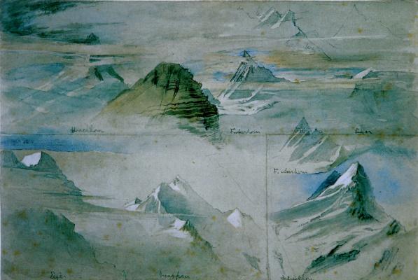 John Ruskin. Alpine Peaks