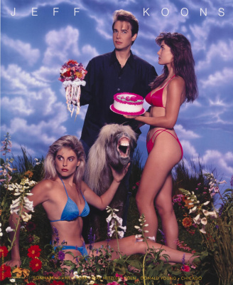 "Jeff Koons. With flowers. Project for magazine ""Art of America"""